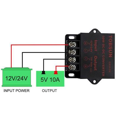 Supernight 50w 12v 24vdc To 5vdc 10a Step Down Regulator Module Converter