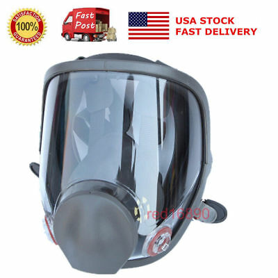 Us Large View Full Face Gas Mask Painting Spraying Protector For 6800 Respirator