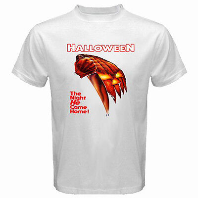 New HALLOWEEN Movie Poster Michael Myers Men's White T-Shirt Size S - 3XL - New Halloween Movie 3
