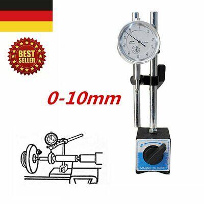 DE Messuhrhalter Magnetstativ mit Meßuhr Magnet Messstativ + Messuhr 10/ 0,01 mm (Messuhr Magnet)