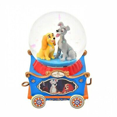 Pre Disney Store Japan Lady and the Tramp Snow Globe Mini Dolly