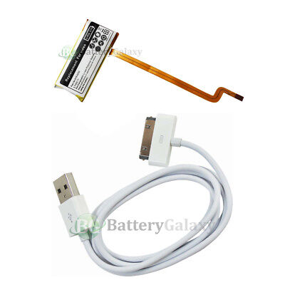 NEW Battery+USB Rapid Fast Cable for Apple iPod Video 5th Gen 60GB 80GB 300+SOLD Apple Video Usb Cable