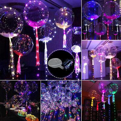 1-10x 18'' LED Ballon Leucht Helium Luftballon Geburtstag Hochzeit Weihnachten
