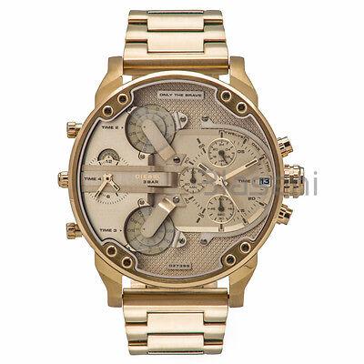 Diesel Original DZ7399 Mr. Daddy 2.0 Gold Stainless Steel Chrono Watch 57mmx66mm