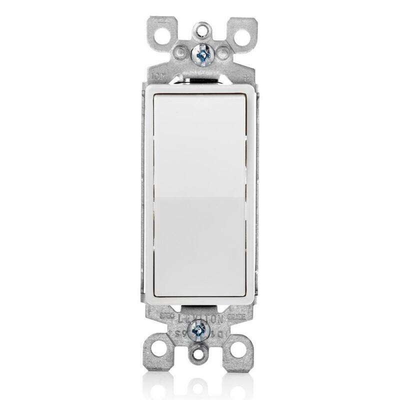 15 Amp Decora Rocker 3-Way Quiet Light Switch, White, 10 Pack