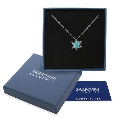 Collana argento Swarovski Elements originale G4Love cristalli neve Frozen Elsa ()