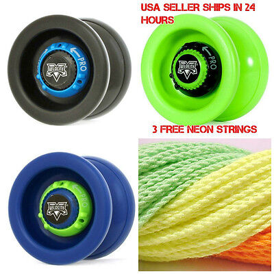 Velocity Yo Yo From The Yoyofactory Black Green Or Blue   3 Free Neon Strings