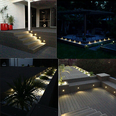 Aluminum 12 Volt Outdoor Step - 10X 12V Warm White Half Moon Outdoor Terrace Patio Yard LED Deck Step Lights Set