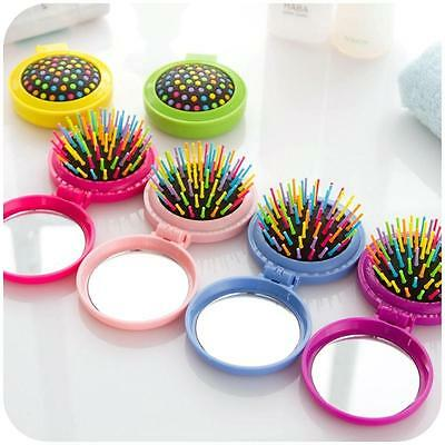 Accessory Massage Brush Travel Comb Folding Comb Hair Comb Folding Mirror