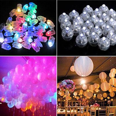 50pcs LED Balloon Lamp Light for Paper Lantern Xmas Wedding Party Decoration US (Balloon Leds)