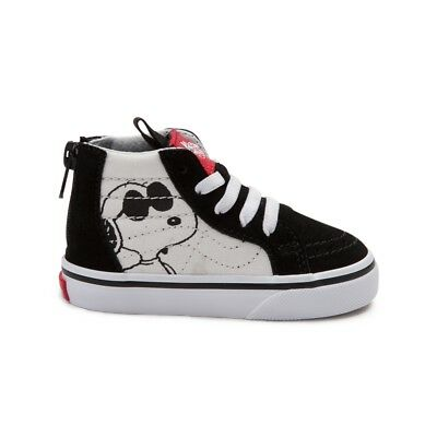 Vans SK8 Hi Zip Peanuts Snoopy Joe Cool Black Toddler Baby Boys Girls Shoes ](Cool Girls Shoes)