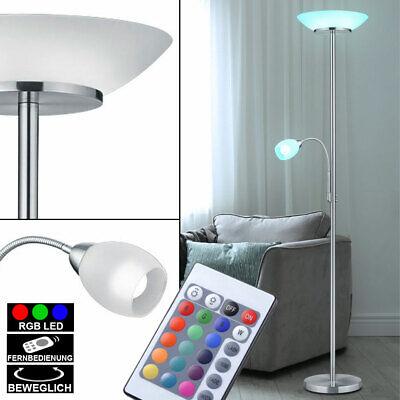 RGB LED Steh Leuchte dimmbar Flexo Lampe beweglich Fernbedienung Decken Fluter