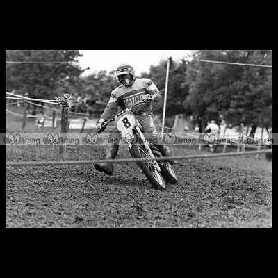 #phm.56527 Photo ROB TAYLOR MAICO 1972 MOTOCROSS Motorcycle Moto