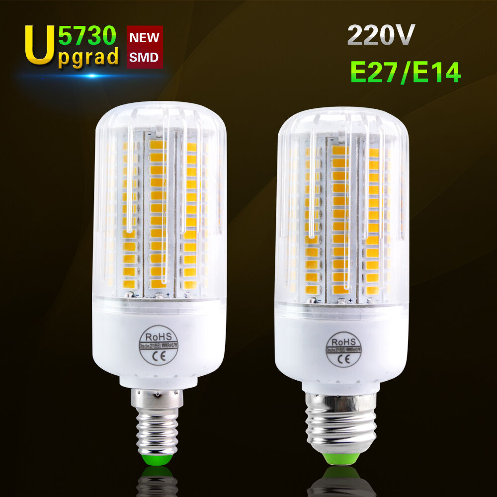 e14 e27 lights 5730 smd led corn bulb lamp 220v light incandescent 20w 150w ebay. Black Bedroom Furniture Sets. Home Design Ideas