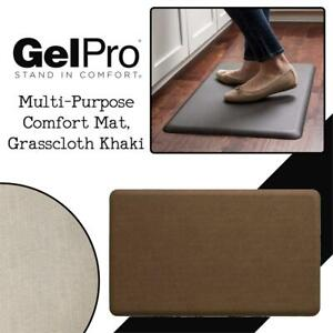 NEW NewLife by GelPro Multi-Purpose Comfort Mat, Grasscloth Khaki, 18x30-Inch Condition: New
