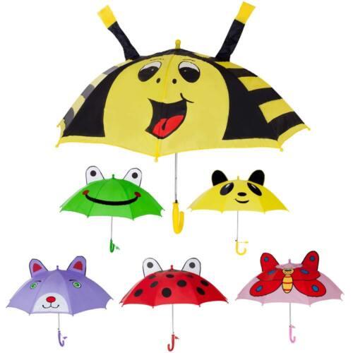 Cute Kids Children's Animal Umbrella 3D Ear Cartoon Hook Han