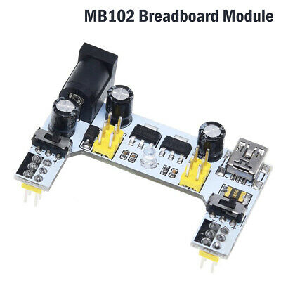 Mb102 Solderless Power Supply Module Pcb Breadboard 5v 3.3v