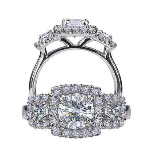 2.25 Carat Round Brilliant Cut Diamond Engagement Ring GIA Certified Platinum