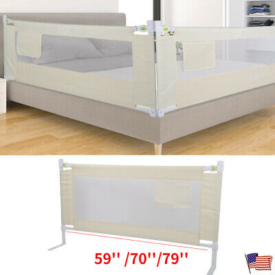 Folding Toddler Safety Bed Rail Baby's Bed Guardrail Fence L