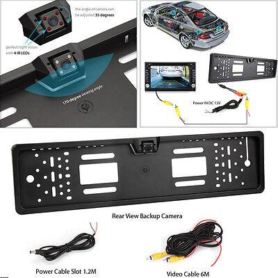 170° HD Car Rear View Reversing Camera Backup Plate Parking Night Vision IR LEDs