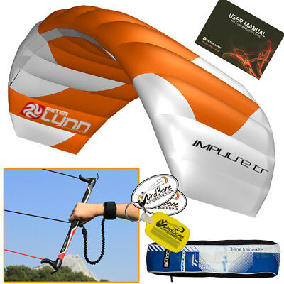 Peter Lynn Impulse TR 1.5M 1.5 Foil Trainer Kite Kiteboarding 3-Line Control Bar