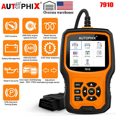 Autophix 7910 For BMW OBD2 Diagnostic Scanner Oil EPB SAS Airbag TPMS Reset Tool