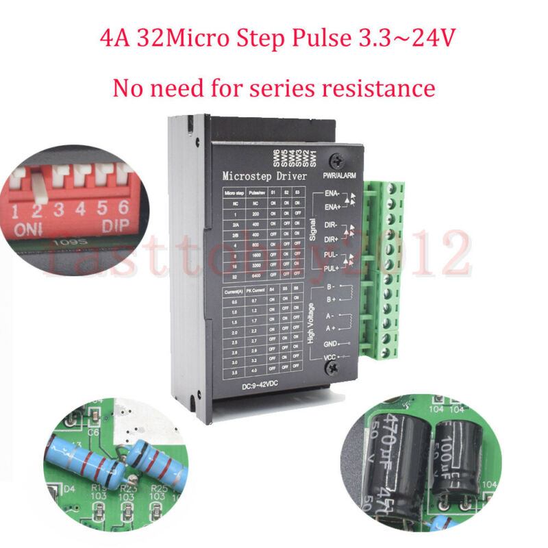 CNC Single Axis TB6600 0.2-5A Two Phase Hybrid Stepper Motor Driver Controller