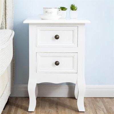 Set of 2 Wood Night Stand End Table Storage Bedroom Furniture Bedside Decor
