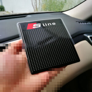 S Line Anti Slip Cars Dashboard Mat Pad Sticker Mobile Phone Key Holder For Audi