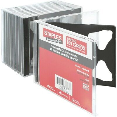 Staples Double Cd Jewel Cases 10pack 10379-cc 392009