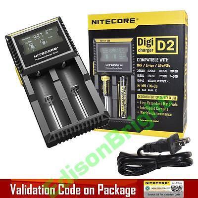 NITECORE D2 Digi charger For 18650 14500 18350 16340 10400 AA AAA Li-ion Ni-Mh