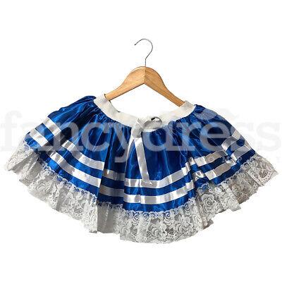 Ladies Blue Sailor Tutu with Bow Sailor Marine Hen Night Fancy Dress Accessory
