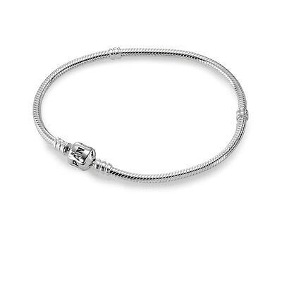 Authentic Pandora 7 5  New Signature Snap Bracelet Silver Orig Pkg 590702Hv 19