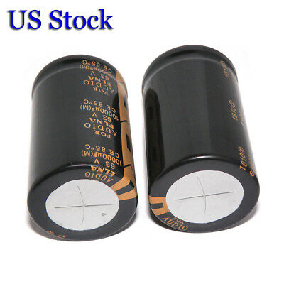 2pcs Elna Lao 10000uf 63v Audio Top Power Electrolytic Filter Capacitor 3050mm