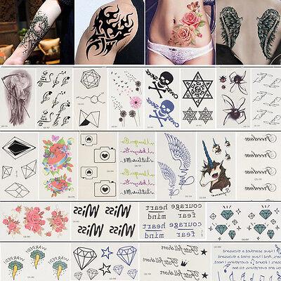 Impermeabile Gioielli Tatuaggi Temporanei Oro Argento Nero Metallico Flash