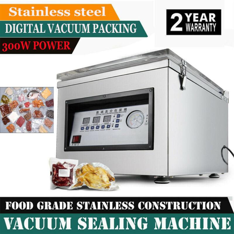 Commercial Vacuum Sealer Chamber Digital Vacuum Packing Sealing Machine 300W New