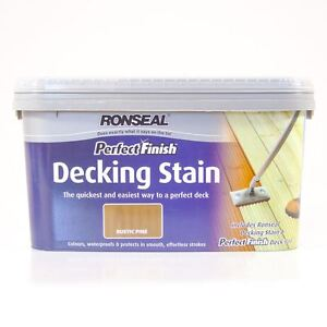Ronseal 2.5L Perfect Finish Decking Stain with Deck Pad - Rustic Pine
