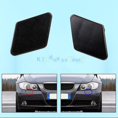 Front LH+RH Bumper Headlight Washer Jet Nozzle Cover Cap For BMW 3 E90 E91