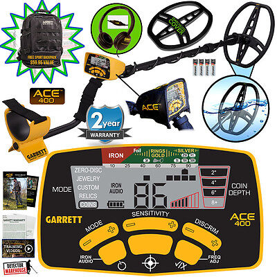 Garrett ACE 400 Metal Detector Spring Special with Headphones & Free Accessories