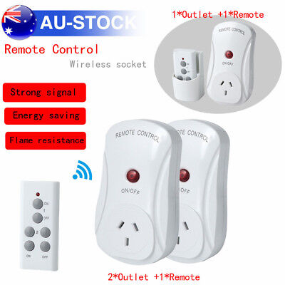 AU Home Wireless Control Mains Power Point Socket 1/2 Outlet with Remote Control