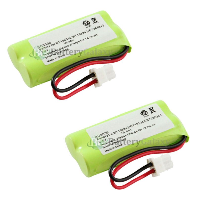 2 NEW Home Phone Rechargeable Battery for AT&T BT166342 BT266342 TL32100 TL90070