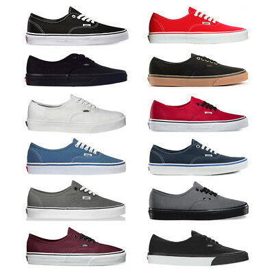 Vans New Authentic Era Classic Sneakers Unisex Canvas Shoes