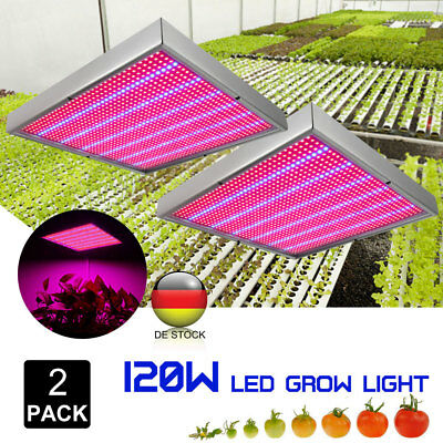 120w Licht Lampe (2×120W 1365 LED Pflanzenleuchte Pflanzen Lampe Licht Wachstum Plant Grow Light)
