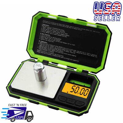 Green Digital Pocket Scale 200g X 0.01g Jewelry Gold Gram Herb Karat Weight