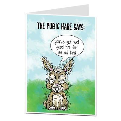 Funny Birthday Card For Her Women Perfect For Best Friends Wife Rude