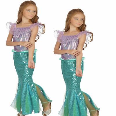 Kinder Ariel Kleine Meerjungfrau Satz Mädchen Prinzessin Kostüm Party Kostüm - Kleine Meerjungfrau Kostüm Kinder