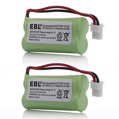 2x 600mAh Battery For VTech BT162342 BT183342 BT283342 AT&T TL32100 TL90070