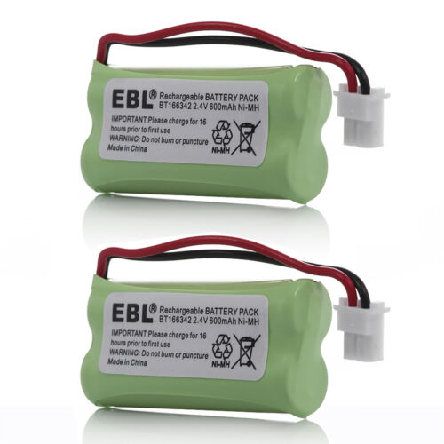 2x 600mAh Battery For VTech BT162342 BT183342 BT283342 AT&T TL32100 TL90070 2.4V