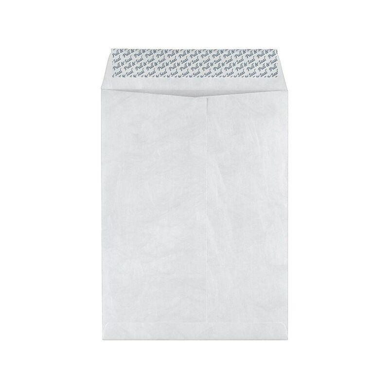Staples 9 x 12 Tyvek EasyClose Catalog Envelopes 100/Box 534909