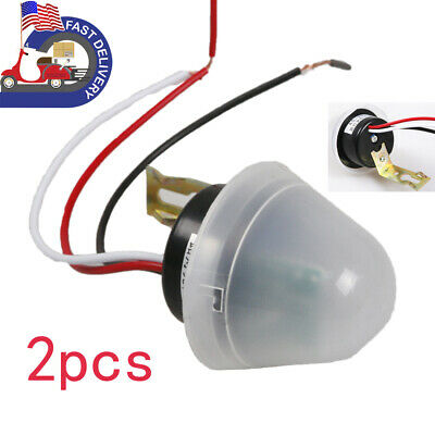 2x Acdc As-20 Auto Onoff Photocell Street Light Photosensitive Control Switch